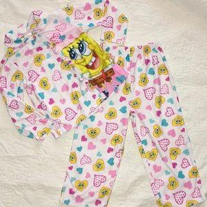Little girls sz 4t spongebob pjs